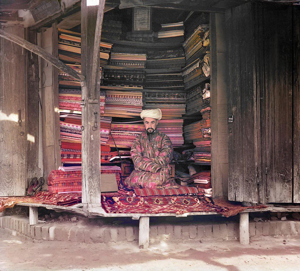 Sergueï Prokoudine Gorski: Tuchhändler aus Samarkand